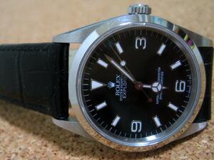 時計ベルトをモレラートのルイジアナに交換したロレックス エクスプローラI