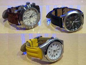 時計ベルトをモレラートのAMADEUSとDONATELLOとSPEEDに交換したTISSOTとSEIKOとCITIZEN