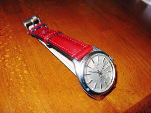 時計ベルトをモレラートのDONATELLOに交換したシチズン レオパール