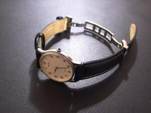 時計ベルトバックルをモレラートのDEPLOJANTE/2に交換したCITIZEN EXCEED