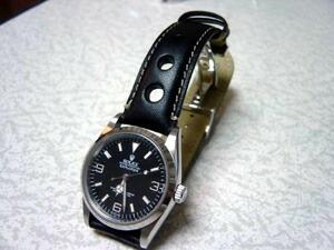 時計ベルトをモレラートのジョットに交換したROLEX EXPLORER