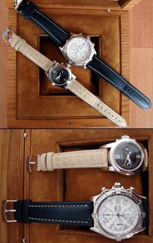 時計ベルトをモレラートのリバプールに交換したGIRARD-PERREGAUX SMALL CHRONOGRAPH
