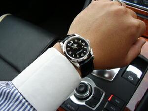 時計ベルトをモレラートのアマデウスに交換したロレックス エクスプローラー1