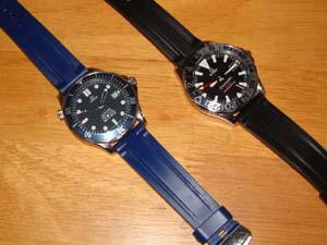 時計ベルトをモレラートのマリナーに交換したオメガ シーマスタープロフェッショナル
