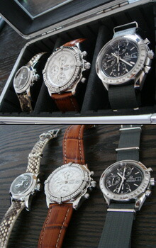 時計ベルトをモレラートのセリーヌに交換したGIRARD-PERREGAUX SMALL CHRONOGRAPH