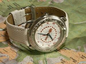時計ベルトをモレラートのイビザに交換したLONGINES 1492 CHRISTOBAL C