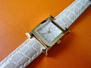 時計ベルトをモレラートのリバプールに交換したエルメスラムサス