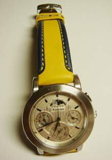 時計ベルトをモレラートのSLALOMに交換したシチズン グランドコンプリケーション
