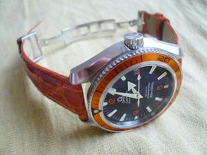 時計ベルトバックルをモレラートのDEPLOJANTE/2に交換したオメガシーマスタープラネットオーシャン