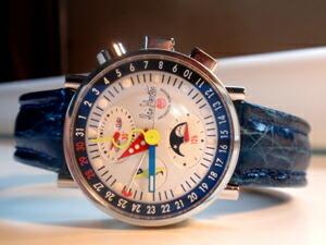 時計ベルトをモレラートのティポ ブライトリングに交換したアランシルベスタインバウハウス