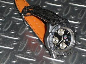 時計ベルトをモレラートのスピンネイカーに交換したタグホイヤークロノグラフ