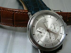 時計ベルトをモレラートのルイジアナに交換したOMEGA De Ville Prestige Chronograph
