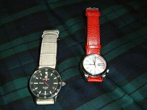 時計ベルトをモレラートのボーレに交換したウェンガーオートマチック