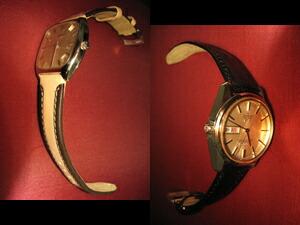 時計ベルトをモレラートのボルテラに交換した1960年代のロンジン