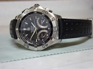 時計ベルトをモレラートのラグビーに交換したTAG HEUER AQUARACER CALIBRE S