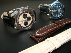 時計ベルトをモレラートのティポブライトリングクオイオに交換したオメガ スピードマスターシューマッハレジェンド6000本限定