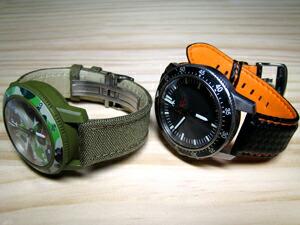時計ベルトをモレラートのバイキングに交換したSinn 503 Bape Camo