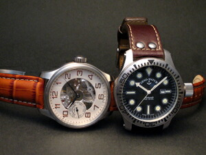 時計ベルトをモレラートのプラスに交換したZENO-WATCH BASEL 8558/9-S-RW