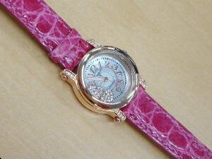 時計ベルトをモレラートのトレイシーに交換したALESSANDRA OLLAハートチャーム