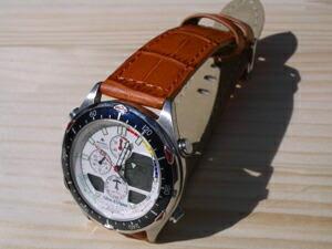 時計ベルトをモレラートのBOLLEに交換したシチズンプロマスター ナビサーフ C320