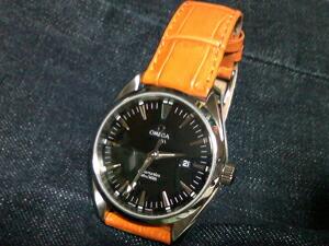 時計ベルトをモレラートのサンバに交換したオメガ シーマスターアクアテラ