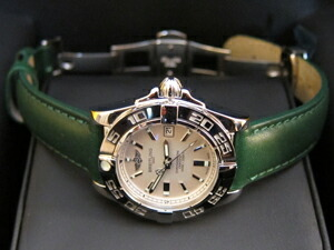時計ベルトをモレラートのグラフィックに交換したブライトリング ギャラクティック32