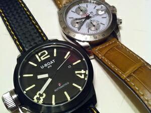 時計ベルトをモレラートのグットゥーゾに交換したTUDOR CHRONOTIME