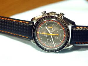 時計ベルトをモレラートのバイキングに交換したオメガ スピードマスタープロフェッショナル