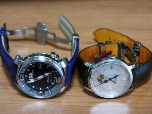 時計ベルトをモレラートのSPEEDとDUCCIOに交換したI.T.A. Casanova SPORTとBAUME&MERCIER CLASSIMA EXECUTIVES Ref.8688