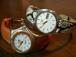 時計ベルトをモレラートのルノアールに交換したTAG HEUER S/el Professional