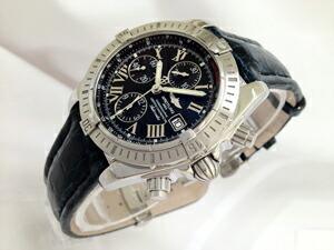 時計ベルトをモレラートのティポブライトリングに交換したブライトリング クロノマットエボリューション