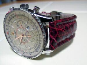 時計ベルトをモレラートのティポブライトリングに交換したブライトリング モンブリラン38
