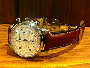 時計ベルトをモレラートのGIORGIONEに交換したボーム&メルシエ ケープランド10000c