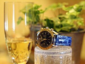 時計ベルトをモレラートのティポブライトリングに交換したオメガ シーマスターデイデイト