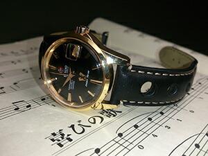 時計ベルトをモレラートのジョットに交換したRADO Golden Horse CHRONOMETER