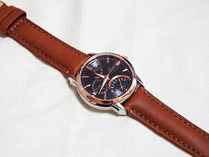 時計ベルトをモレラートのドランに交換したオリエントスターレトログラード