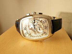 時計ベルトをモレラートのLOUISIANE(ルイジアナ) に交換したCITIZEN / カンパノラ ミニッツ・リピーター CTR57-0901