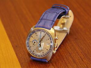 時計ベルトをモレラートのボーレに交換したオメガ シーマスタークロノ
