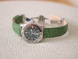 時計ベルトをモレラートのボーレに交換したオメガ シーマスタージャックマイヨール