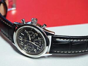 時計ベルトをモレラートのプラスに交換したブライトリング プレミア