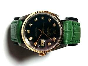 時計ベルトをモレラートのボーレに交換したロレックスデイトジャスト16233G