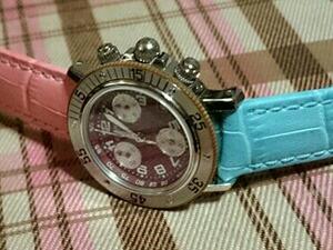 時計ベルトをモレラートのボーレに交換したエルメスクリッパークロノグラフ