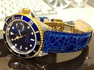時計ベルトをモレラートのアマデウスに交換したロレックス サブマリーナーデイト ブルー
