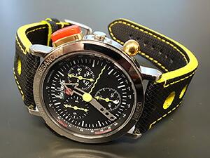 時計ベルトをモレラートのボーリングに交換したアランシルベスタイン クロノアラーム