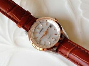 時計ベルトをカシスのドナに交換したCITIZEN EXCEED