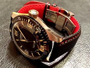 時計ベルトをモレラートのバイキングに交換したオリスダイバーズ65