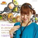 Women's headband ビーズキラキラ ★ ハートトキメク! ラブリーカチューシャ T @C3A28 | hair accessories headband |