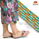 10P12Oct14 turquoise & gold beads * simple anklet M @C3A29 [Asian fashion Asian goods ethnic fashion Oriental Asian accessories anklet bells access bracelet]