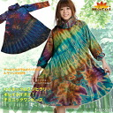 One piece high neck & ssohilari ♪ Kiley tidy! Tunic dress MxE0704 [Asian fashion ethnic fashion Asian clothing cotton tie-dye] | one piece long sleeved | vampirismedium a-line | tunic long sleeve |