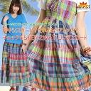 Maxi skirt? Beat-up? STEP in checking! MxK0101 2-WAY skirt the Asian fashion ethnic fashion Maxi-length flared skirt patchwork check | skirt cotton (cotton) | medium flare | n_marai